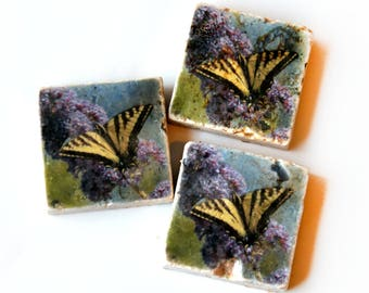 Ready to Ship Refrigerator Magnet - Butterfly Decor Fridge Magnet - Yellow Black Butterfly Gift - Stone Butterfly Magnet - Birthday Gifts