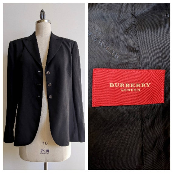 Burberry Black Boxy Blazer Designer Essential Rayo