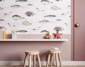 Fish Wallpaper - Pink