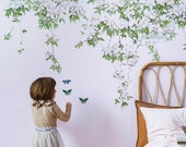Magnetic Clematis Mural Pink
