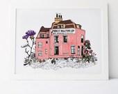 Percy Dalton - Old Fashioned Shop Print