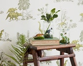 Dino Wallpaper - Yellow Green