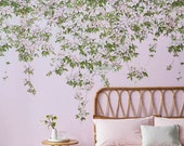 Classic Clematis Mural Wallpaper in Pink