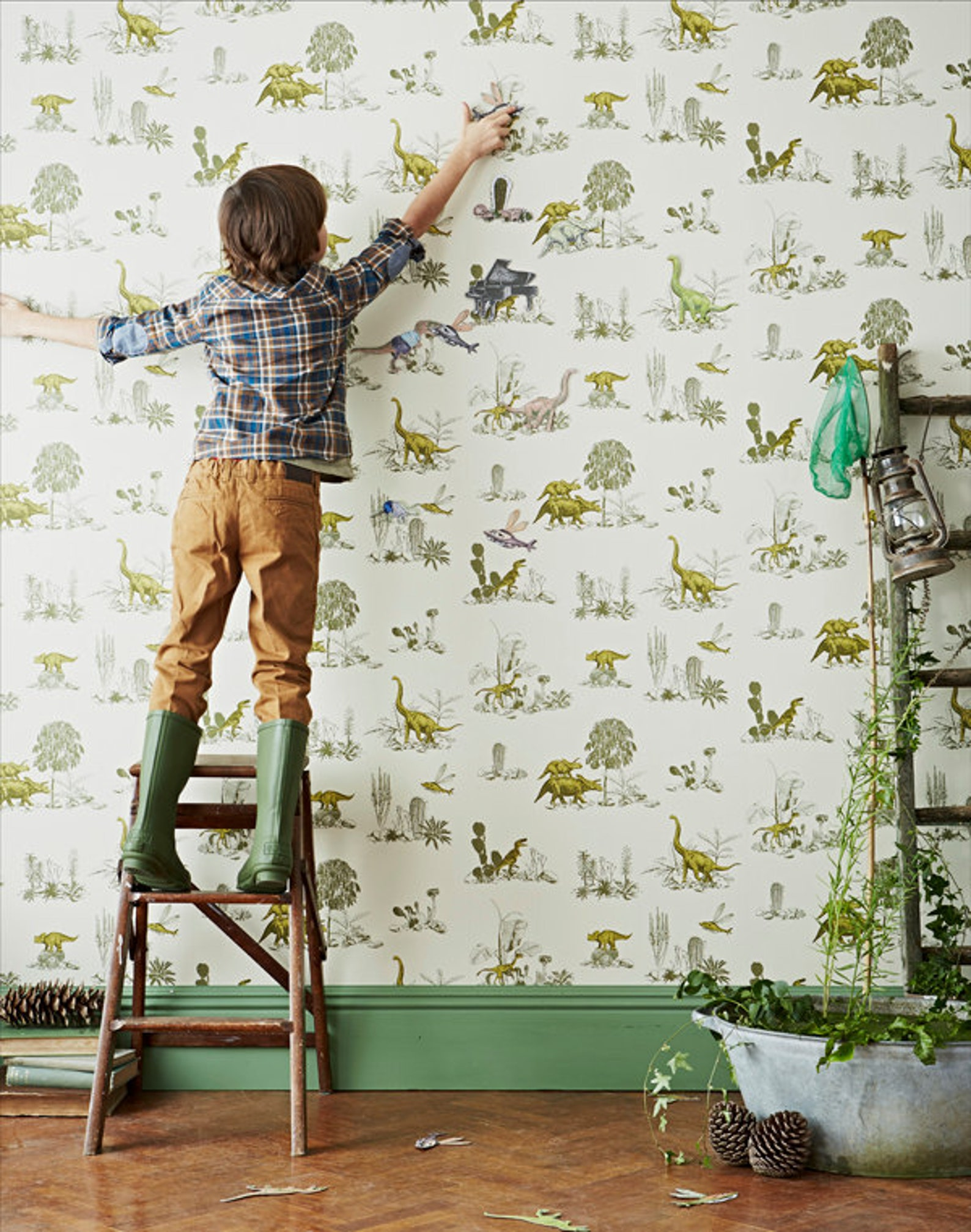 Sien Zeng Interactive Magnetic Dino Wallpaper on Etsy