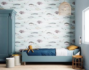 Fish Wallpaper - Blue Green