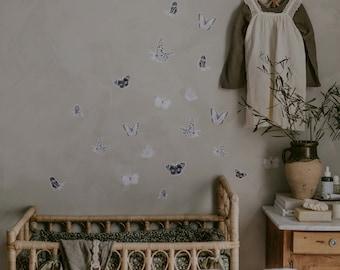 Butterfly Fabric Sticker Grey