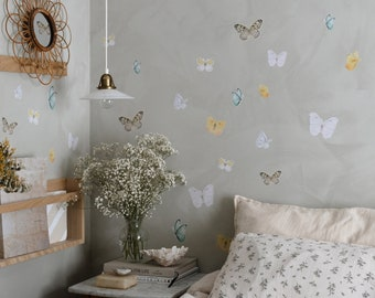 Butterfly Fabric Sticker Bright