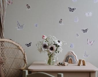 Butterfly Fabric Sticker Blush