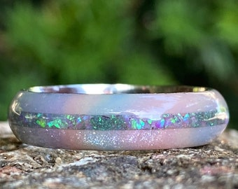DiamondCast Ring Opal Ring USA Made Custom Ring Cobalt Wedding Band