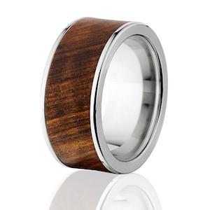 Ring Boxwood with Blue Lapis Lazuli Inlay Wood Turned Wedding Ring Engagement Ring Wooden Ring
