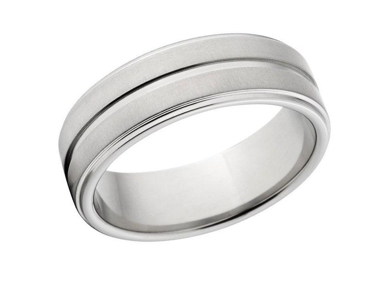7RC1G-XB New 7mm Wide Comfort Fit Titanium Ring