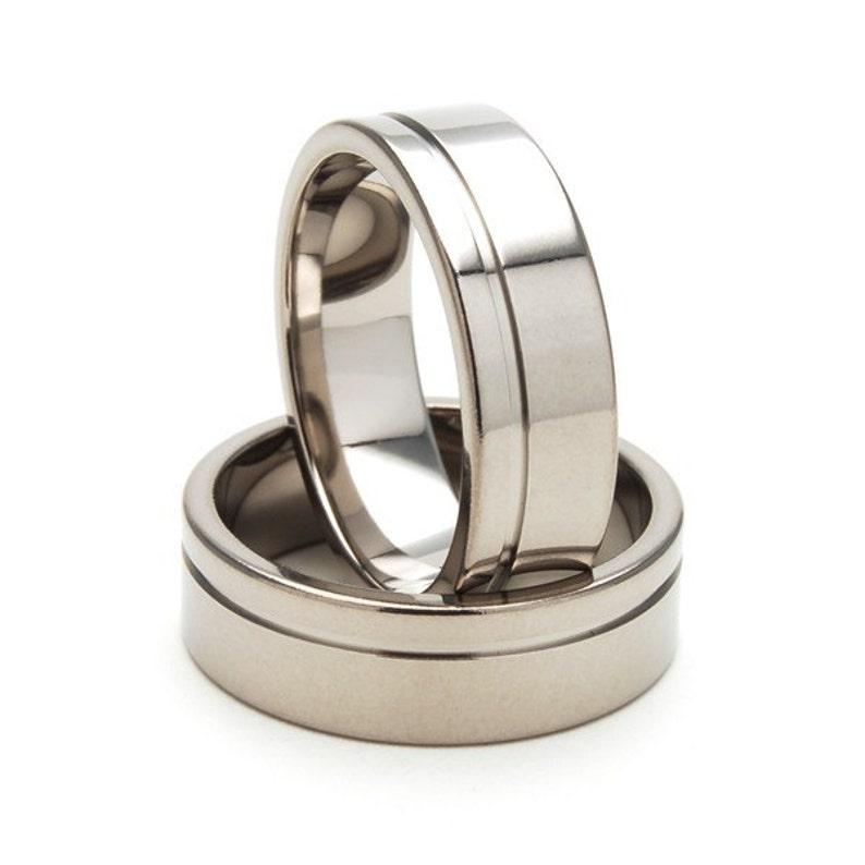New 7mm Wide Comfort Fit Titanium Ring 7FGOC-P