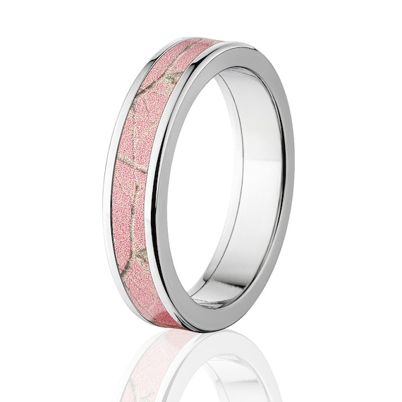 New Realtree Pink Camouflage Wedding Band Custom Camo Wedding Etsy