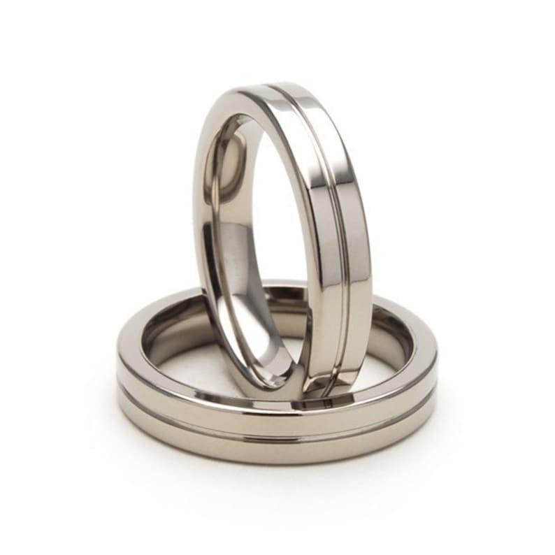 New 4mm Wide Comfort Fit Titanium Ring