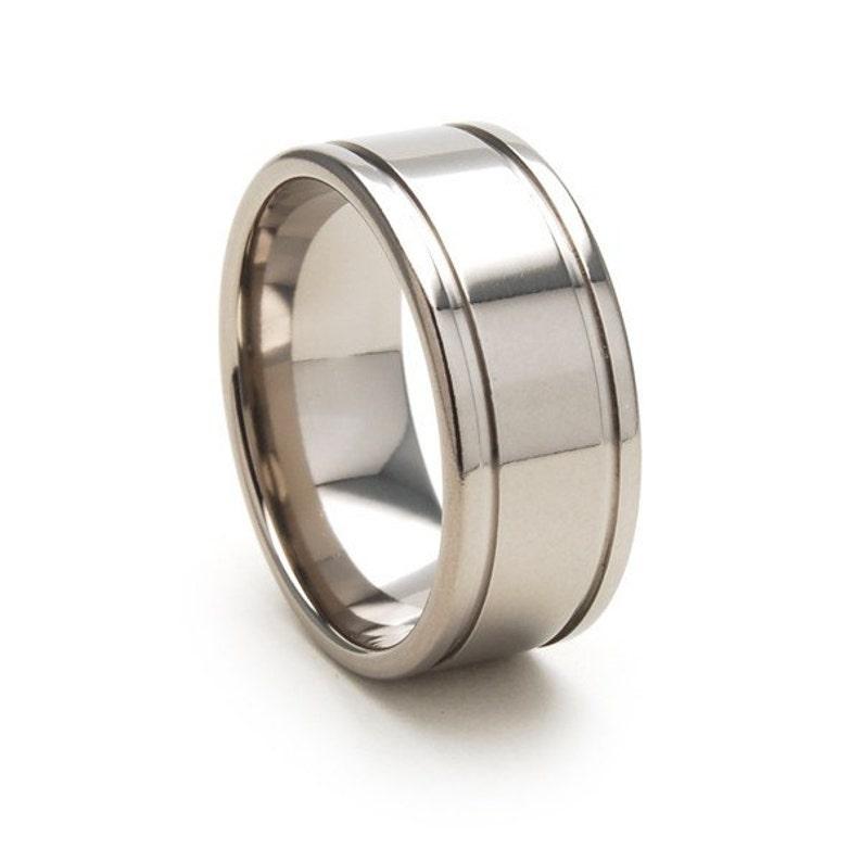 9mm Wide Titanium Ring 9F2WSG-P