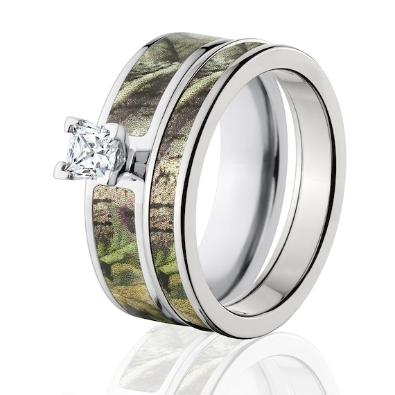 Cobalt Camo Bridal Set With Realtree Green Licensed Camo Etsy