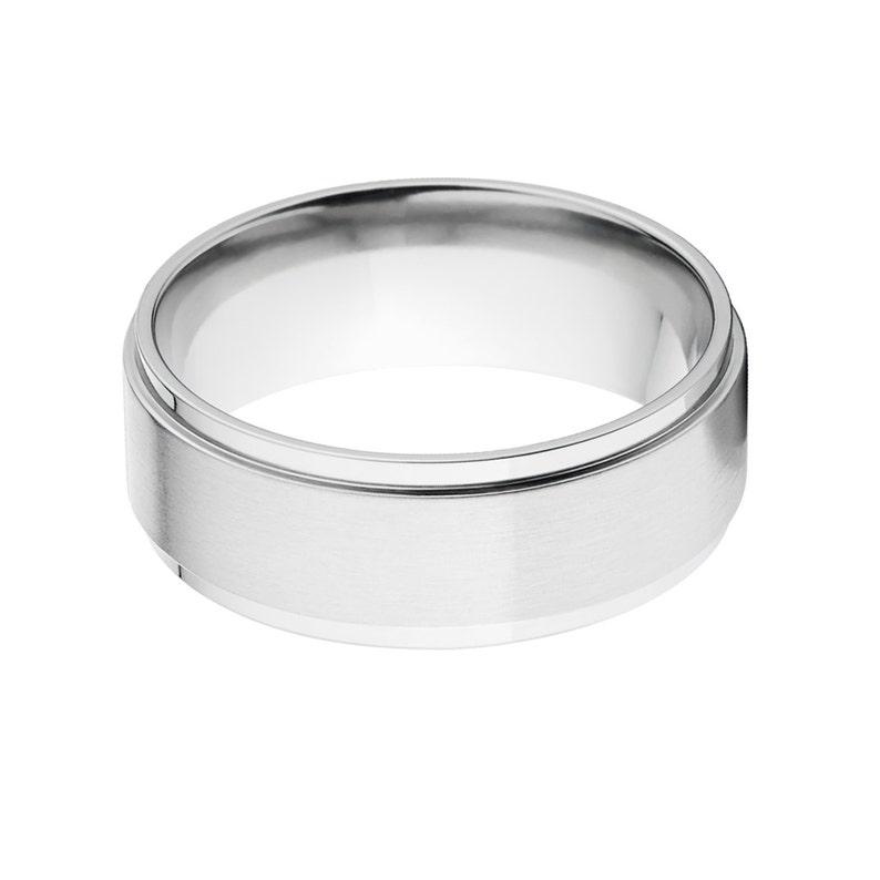 Two Tone Finish Cobalt Wedding Band Custom Made Cobalt Ring Cobalt Wedding Ring CB-8RC-BC