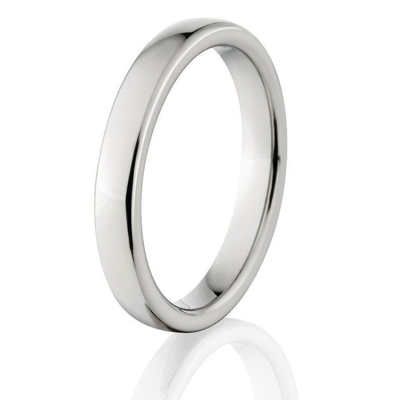 4HRP.2HRP Titanium promise rings Matching Titanium His and Hers Ring Set bands