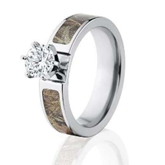 Realtree Wedding Rings: Realtree Camo Rings Max 4 Engagement Bands W/ 1 CTW 14k
