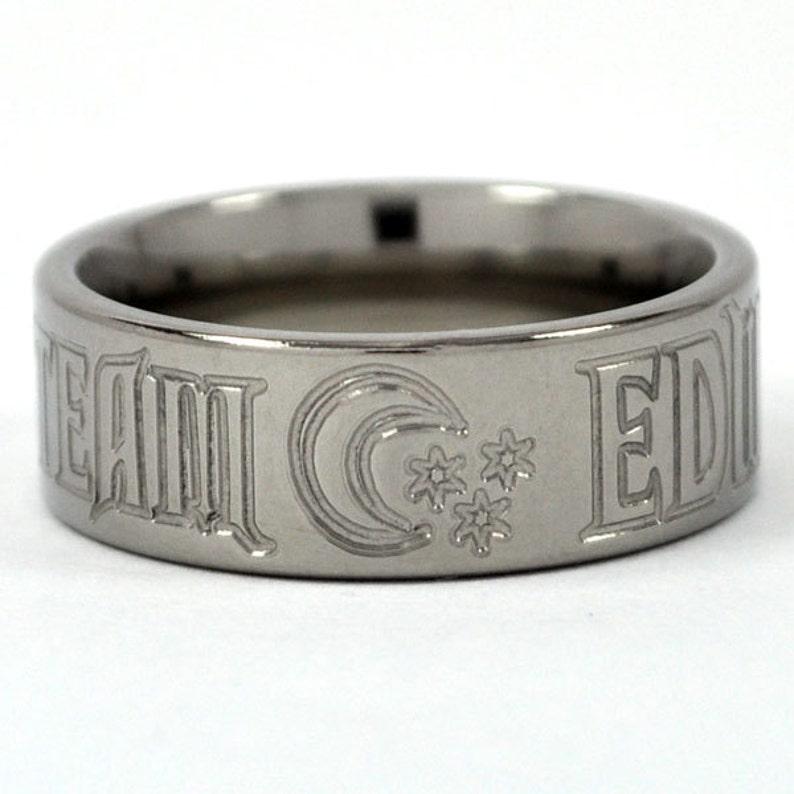 Team Edward Titanium Ring New VAMPIRE