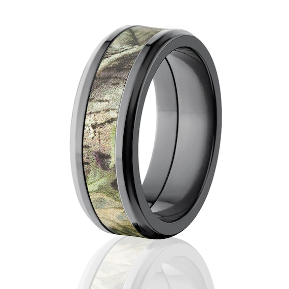 New 8mm Licensed New Realtree Green Camo Band Camo Wedding Etsy