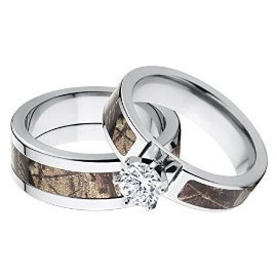 Camouflage Wedding Rings RealTree AP Camo Rings Camo Bands