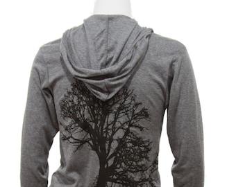 Oak Tree | Lightweight full zip hoodie | Unisex sizing | Soft | Tree of life | Sizes XS - XXL