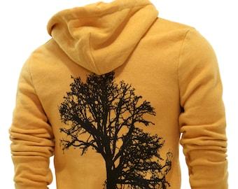 Oak Tree   Full Zip Fleece Hoodie   Soft Hoodie   Unisex