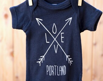 Arrows | Baby bodysuit | Love Portland | baby jumper