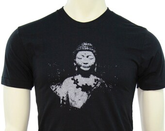 Siddhārtha Gautama Buddha - Soft Lightweight T Shirt - Crew and V-neck - Yoga apparel