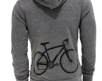 Bicycle   Full Zip Fleece Hoodie   Soft zip up hoodie