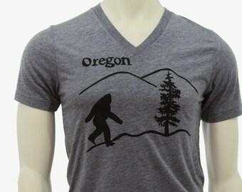 Oregon Bigfoot | Soft Lightweight T Shirt | Sasquatch | Crew & V-neck