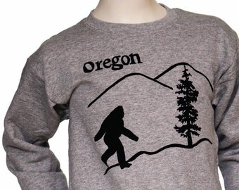 Oregon Bigfoot | Children Crew neck Sweatshirt | Toddler and Youth sizes | Oregon Sasquatch