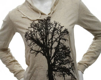 Oak Tree | Soft Lightweight pullover hoodie | organic cotton blend