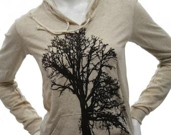 Oak Tree | Soft Lightweight pullover hoodie | organic cotton blend