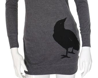 Crow bird | Sweater dress | Nevermore | Soft tunic