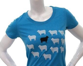 Black Sheep - Soft Lightweight T Shirt - Slim Fit in scoop & V-Neck.