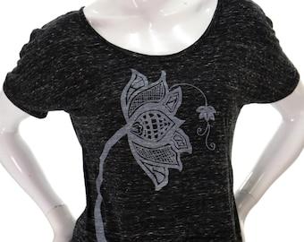 Zen Lotus Flower | Soft Lightweight top | Relax fit | Slouchy T shirt