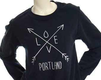 Arrows | Crew neck Sweatshirt | Love Portland | Classic unisex sweatshirt
