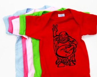 Buddha | Peace sign | Baby jumpsuit | Infant Bodysuits | Baby shower gift