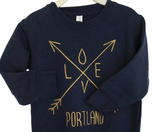 Arrows | Love Portland | Children sweatshirt | Toddler & Youth sizes