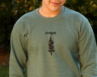 Oregon Fir | crew neck sweatshirt | hometown sweatshirt | Fir tree | classic jumper