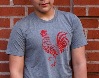 Rooster - Soft Lightweight T Shirt - Crew and V-neck