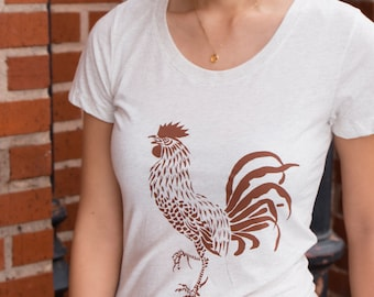 Rooster | Soft Slim Fit T Shirt | Women's Lightweight tees | Sizes S - XXL