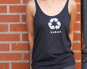 Karma | Lightweight relax fit tank top | flowy oversized fit | Soft | slouchy tank