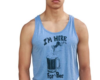 Beer tank top | Soft Lightweight Tank top | Dive | I'm Here for the beer