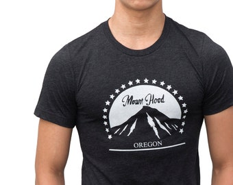 Mount Hood Oregon | Soft Lightweight T Shirt | Unisex crew & V-neck | Sizes XS - 2XL
