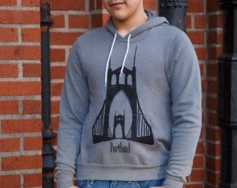 St Johns bridge | Soft classic pullover hoodie | Unisex | Hometown tees | Portland Oregon
