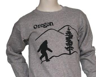 Oregon Bigfoot | Children Crew neck Sweatshirt | Toddler and Youth sizes | Oregon Sasquatch