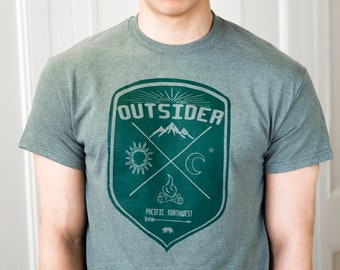 Outsider | Men's classic T Shirt | Hometown t shirt | Pacific nortwest | Travel tees | sizes S - 5XL